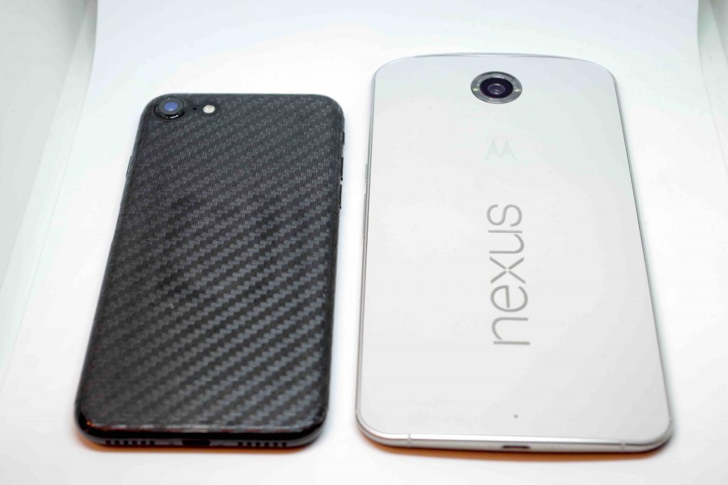nexus6 iphone7 比較